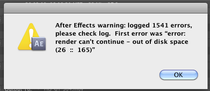 New After Effects error world record?